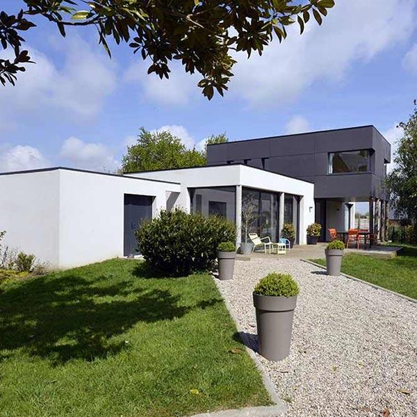 maison bois/béton moderne et performante