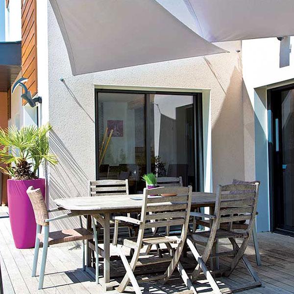 Maison bois avec terrasse