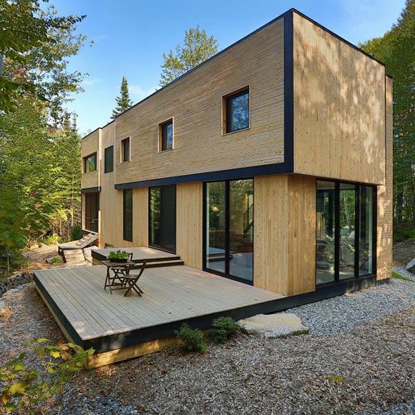 Maison volumétrique en bois - Thellend Fortin