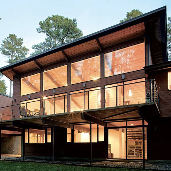 maison bois sculpturale et moderne à Stoneridge