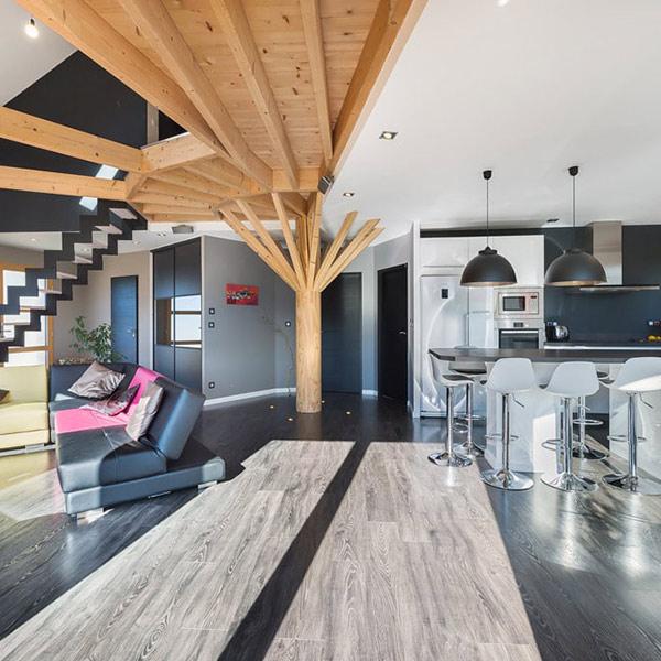 maison en bois ronde en Savoie