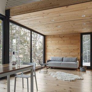 design d'intérieur d'une salon en bois