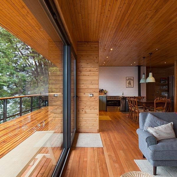 architecture-bois-maison avec terrasse