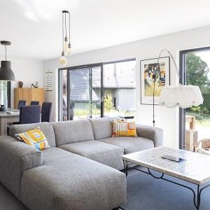 design d'une salon dans maison bois