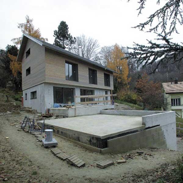 maison bois en construction