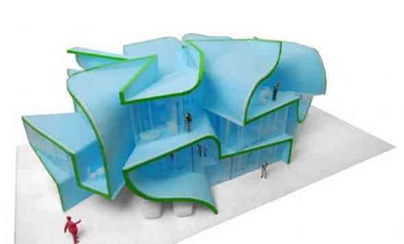 Asymmetric Modern Building
