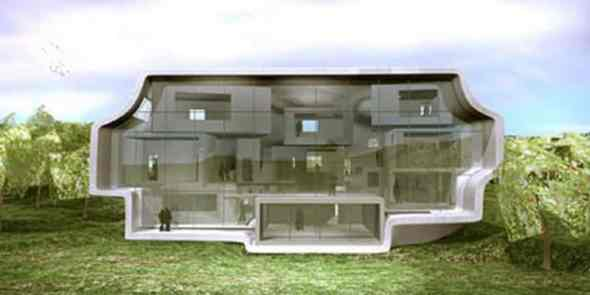 Awesome Gigantic Windows For Green House Concept