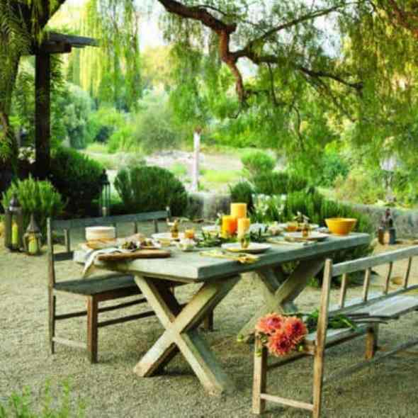 dining room in your backyard