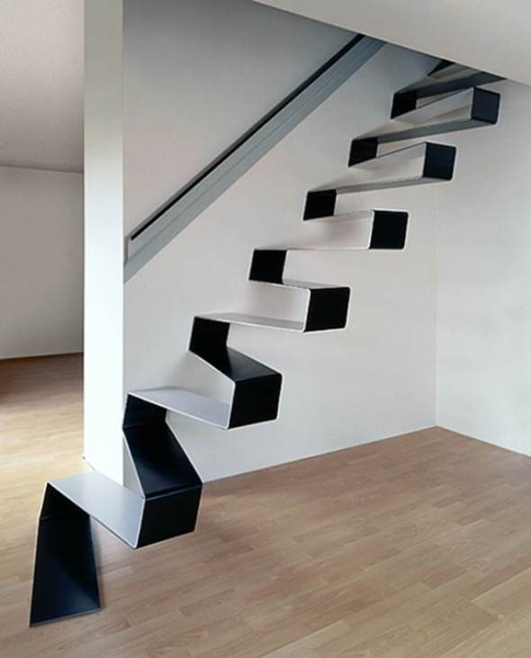 rippling ribbon staircase from HSH Architect