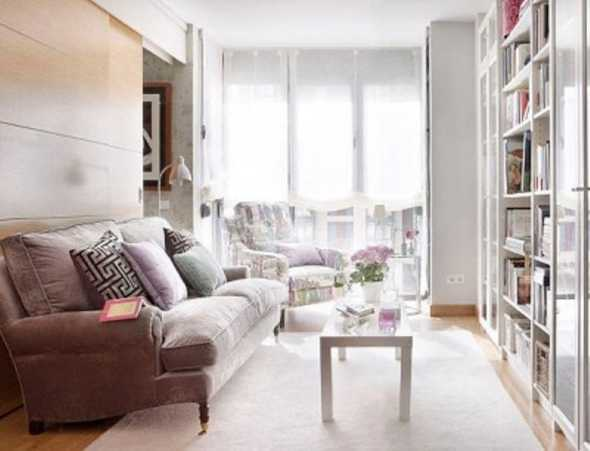 Small living room with bookcase if you like read books