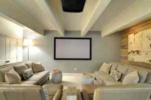 Converting Basement - Media Room in Basement