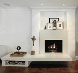 ArchitectureDecor - Elegant Fireplace by Kristie Michelini Interiors - Simple Concept of Fireplace