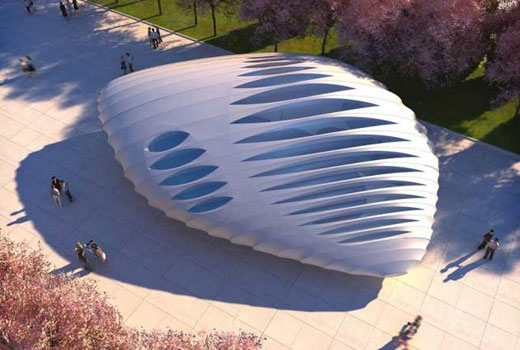 Millennium Park Pavilions by Zaha Hadid