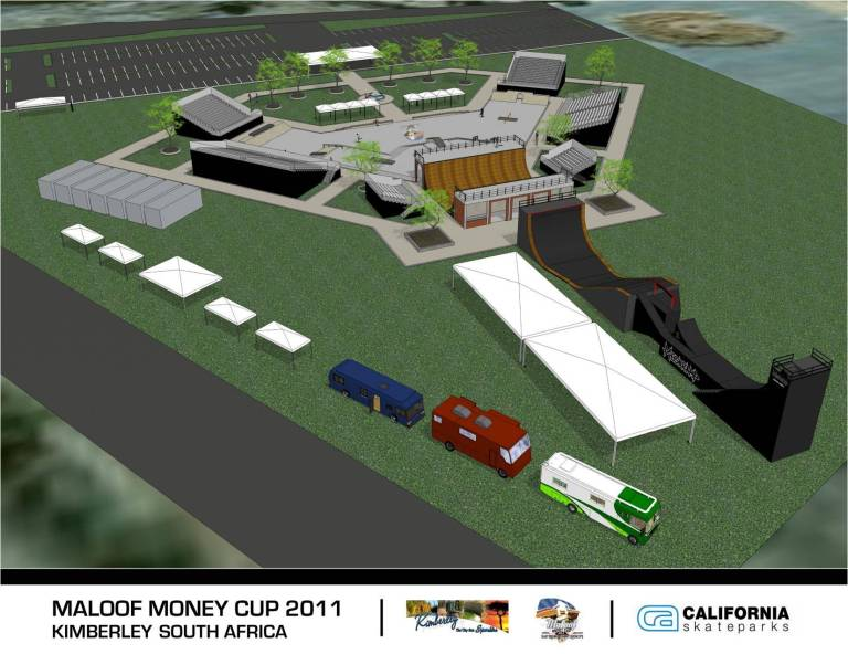 new Maloof Money Cup skate park