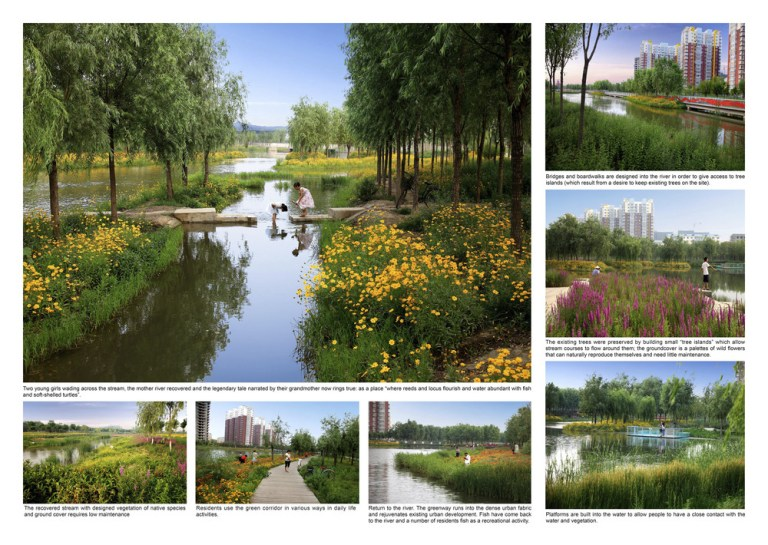 The Sanlihe Greenway, China, designed by Turenscape
