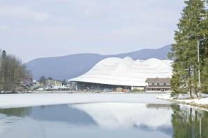 Speedskating Stadium Inzell, Germany, designed by Behnisch Architekten