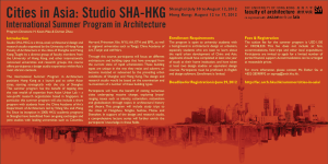 HKU International Summer Program in Architecture: Cities in Asia: Studio SHA-HKG