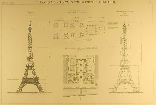 eifel tower blueprint