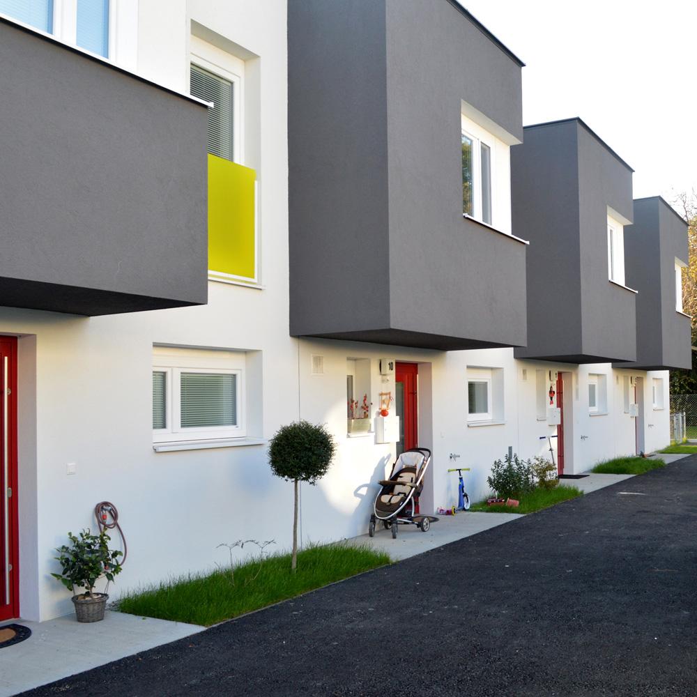 Reihenhausanlage Groß-Enzersdorf - Ansicht Fassaden