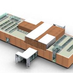 Besucherzentrum Justizanstalt Karlau - Konzept Dach Lamellen