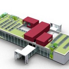 Besucherzentrum Justizanstalt Karlau - Konzept Dach