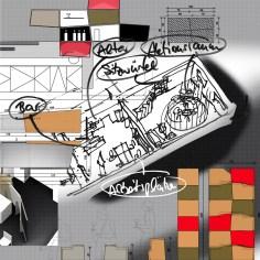 Büros Bankgasse - Konzept Wandschrank und Sitzmöbel