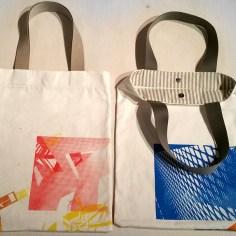 Siebdrucktaschen - Prototyp Taschen