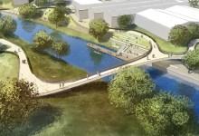 Ein erster Preis - Brücke über den Schleusengraben in Hamburg Bergedorf