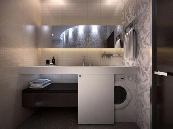 Come nascondere la lavatrice in bagno  Architempore