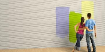 pannelli da rivestimento 3D design Italo Pertichini per WALL DESIGN PLUS. Realizzato in MANOCER® impasto fibrorinforzato a base di malta nobile ceramizzata.