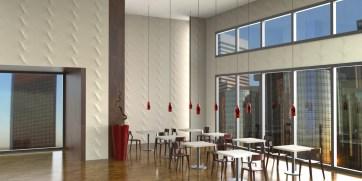 Pannello da rivestimento tridimensionale design Italo Pertichini per WALL DESIGN PLUS.