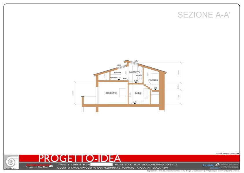 Casa Vacanza con Soppalco esempio di Progetto Online