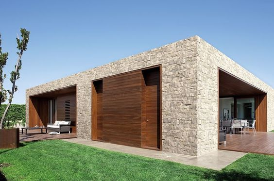 In legno con facciata intonacata, sia in stile moderno che tradizionale. Case Moderne Idee Ispirazioni Progetti