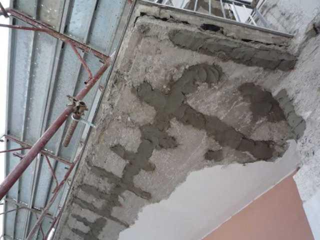 Struttura balconi rinforzata