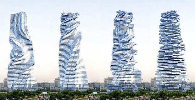 Grattacieli rotanti la dinamicit che produce energia