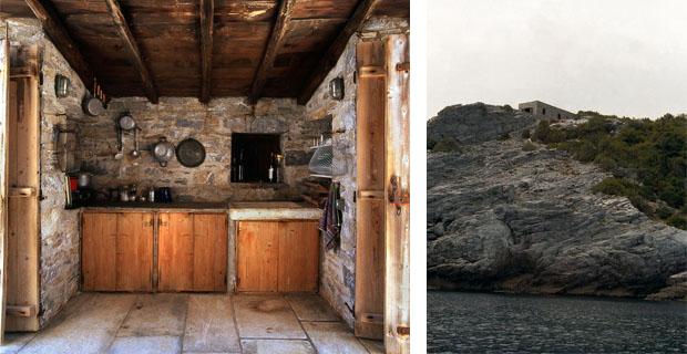Un rifugio tra il cielo e il mare della Grecia