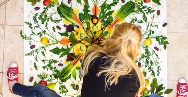 Arte vegetale frutta e verdura nei quadri di una blogger inglese