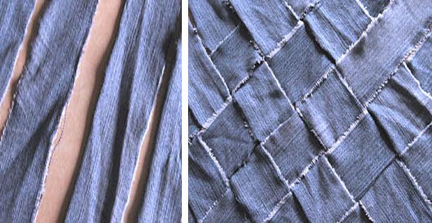 Riciclo dei vecchi jeans Diventano elementi di arredo