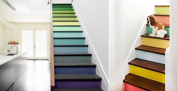 Una volta dipinto le pareti e i soffitti, con notevole soddisfazione per il risultato, potrebbe sembrare giunta l'ora di appendere i rulli. Idee Creative Per Decorare Le Scale Con Pattern Colori E Tappeti