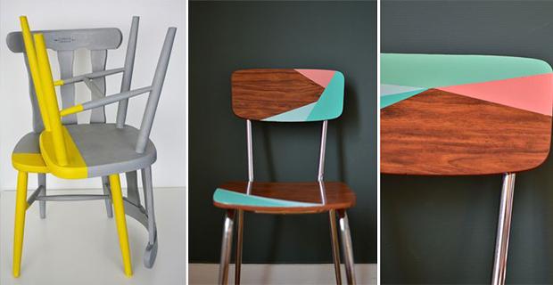 Idee per rinnovare sedie in legno da con i colori per completare l'arredamento giocando con tonalità e geometrie. Come Rinnovare Sedie In Legno Idee E Colori