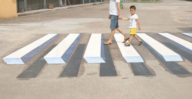 Strisce pedonali 3D per strade pi sicure