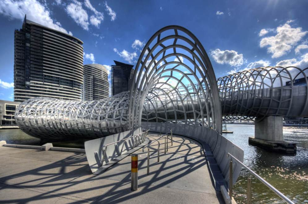 Webb Bridge, Melbourne, Australia, Denton Corker Marshall