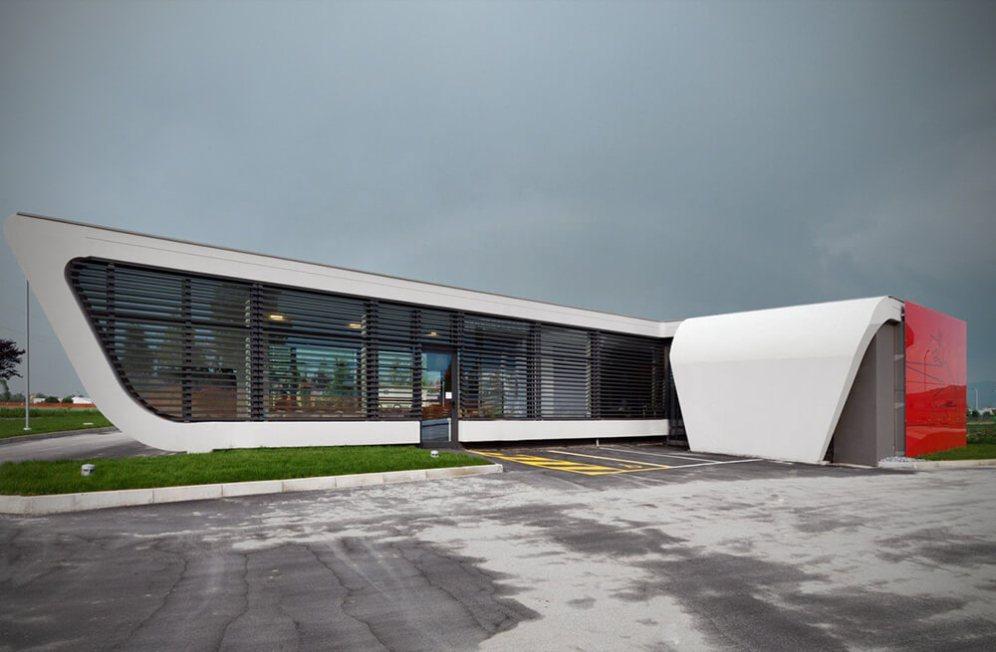 Gazoline Petrol Station, Cuneo, Italy, DaMilano Studio