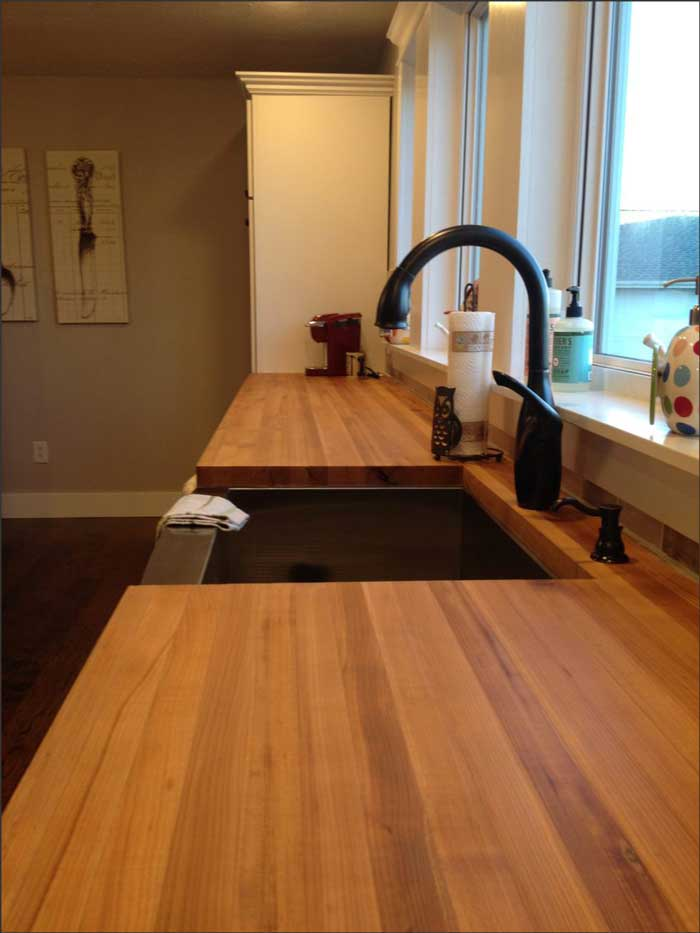 wood countertops kitchen home depot tile backsplash 10 hidden benefits of maple counters finished with mineral oil
