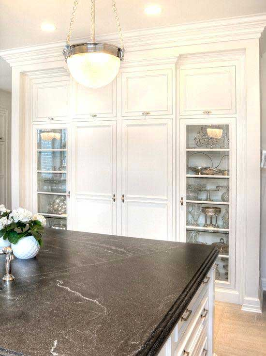 granite kitchen countertops pictures expandable table 10 delightful countertop colors with names and an example of a black honed in white cabinets