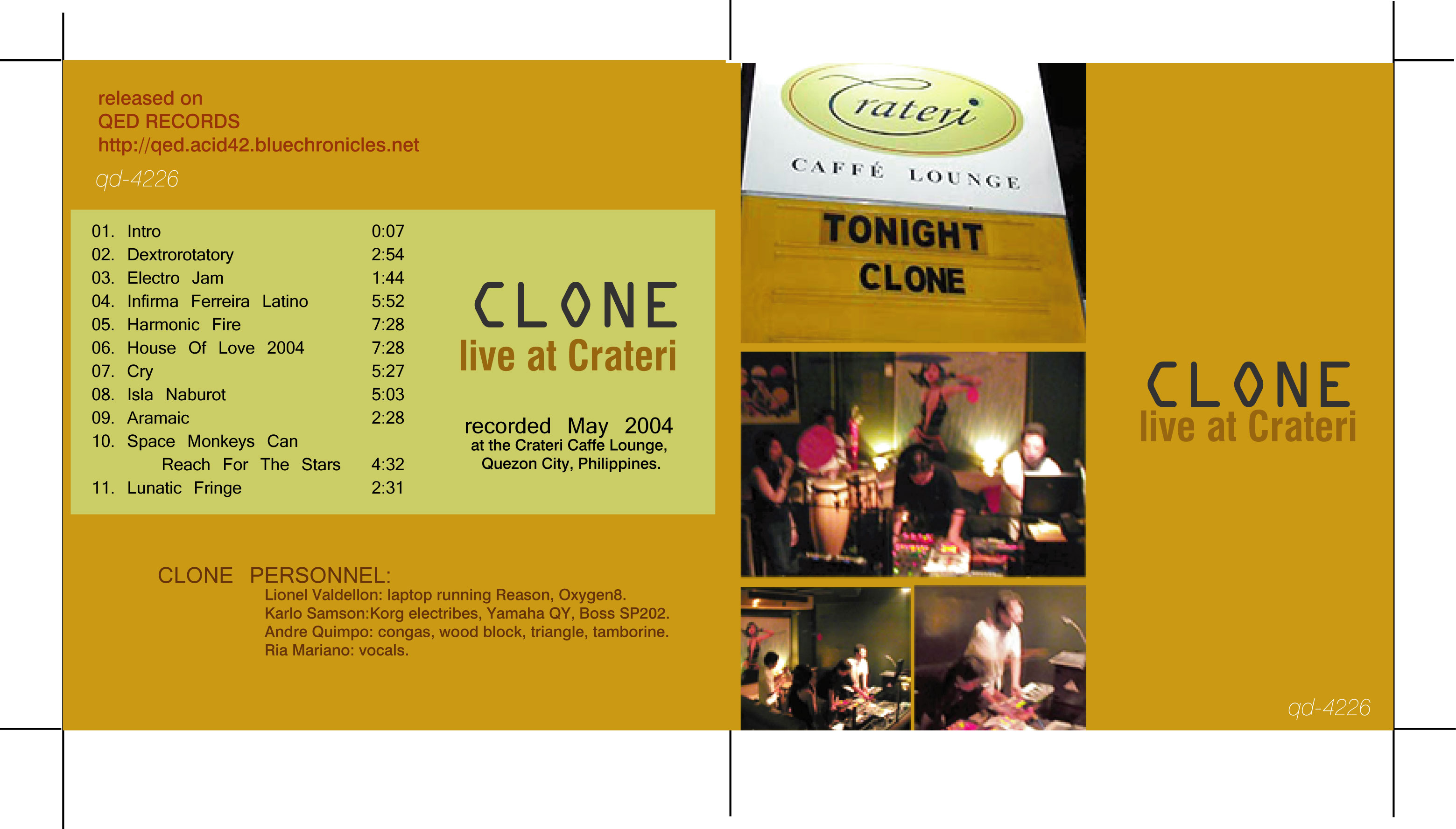 (qd-4226) Clone - Live at Crateri