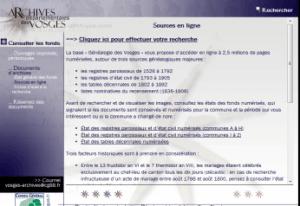 Archives départementales des Vosges
