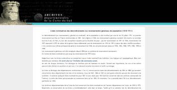 recensement Corse