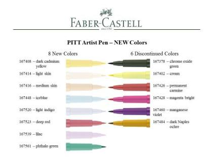 new and discontinued Pitt pens