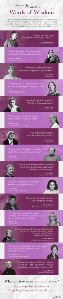 March is Women's History Month. Sorting Saturday.